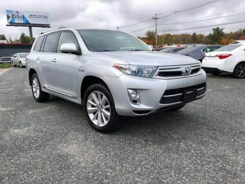 2013 Toyota Highlander Hybrid for sale at Mass Motors LLC in Worcester MA