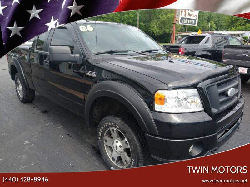 2006 Ford F-150 for sale at TWIN MOTORS in Madison OH