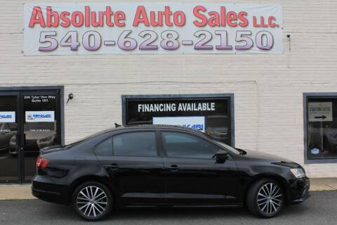 2016 Volkswagen Jetta for sale at Absolute Auto Sales in Fredericksburg VA