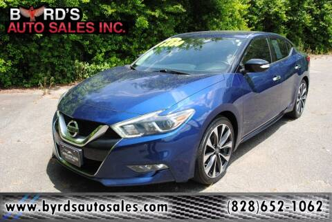 2016 Nissan Maxima for sale at Byrds Auto Sales in Marion NC