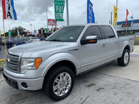 2012 Ford F-150 for sale at Navarro Auto Motors in Hialeah FL