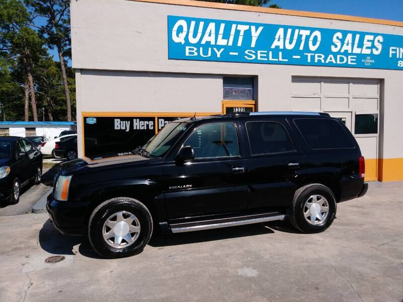 2004 Cadillac Escalade for sale at QUALITY AUTO SALES OF FLORIDA in New Port Richey FL