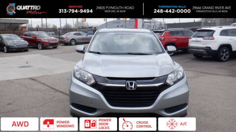 2017 Honda HR-V for sale at Quattro Motors 2 - 1 in Redford MI