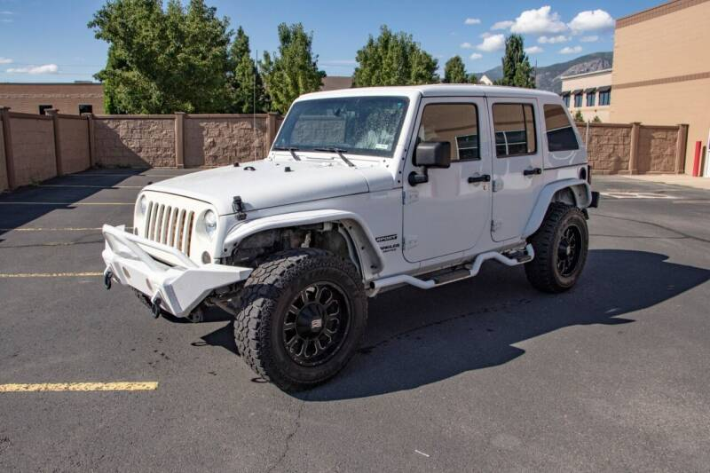 2012 Jeep Wrangler Unlimited for sale at Hoskins Trucks in Bountiful UT