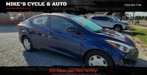 2016 Hyundai Elantra for sale at MIKE'S CYCLE & AUTO in Connersville IN