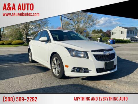 2014 Chevrolet Cruze for sale at A&A AUTO in Fairhaven MA