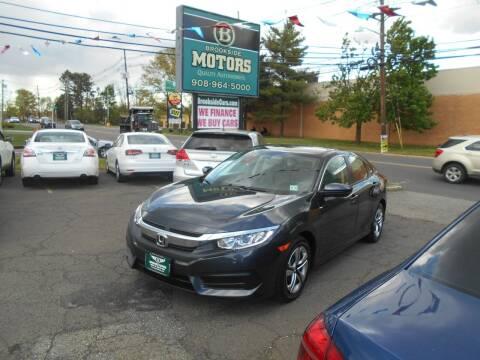 2018 Honda Civic for sale at Brookside Motors in Union NJ
