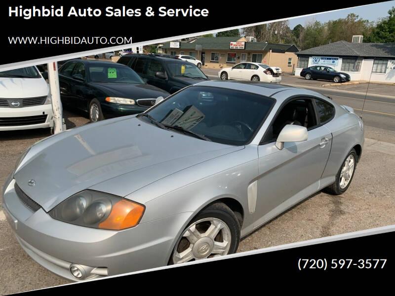 2003 Hyundai Tiburon for sale at Highbid Auto Sales & Service in Arvada CO