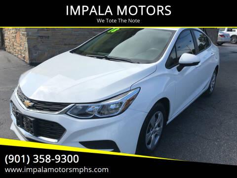 2018 Chevrolet Cruze for sale at IMPALA MOTORS in Memphis TN