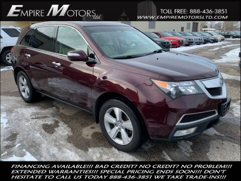 2010 Acura MDX for sale at Empire Motors LTD in Cleveland OH