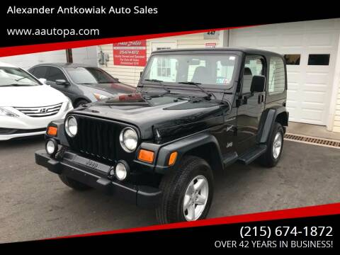 2002 Jeep Wrangler for sale at Alexander Antkowiak Auto Sales in Hatboro PA