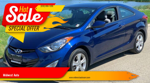2013 Hyundai Elantra Coupe for sale at Midwest Auto in Naperville IL
