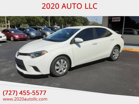 2015 Toyota Corolla for sale at 2020 AUTO LLC in Clearwater FL