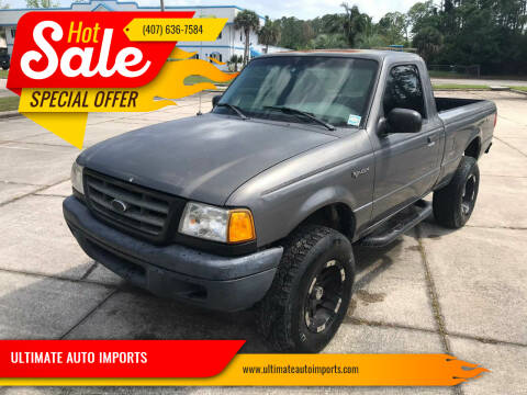 2000 Ford Ranger for sale at ULTIMATE AUTO IMPORTS in Longwood FL