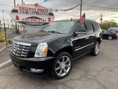 2010 Cadillac Escalade for sale at Arizona Drive LLC in Tucson AZ