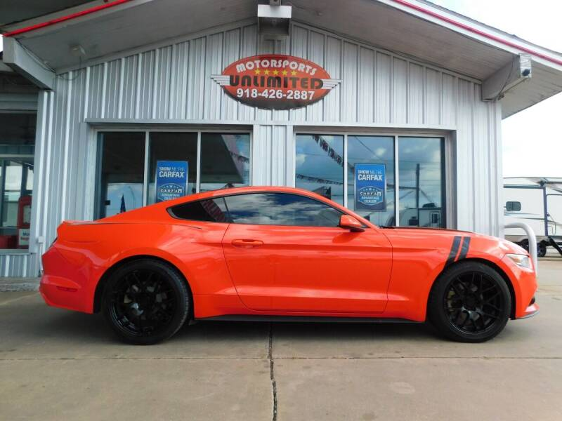 2015 Ford Mustang for sale at Motorsports Unlimited in McAlester OK