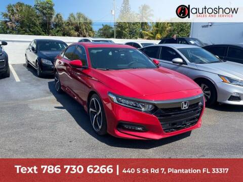 2020 Honda Accord for sale at AUTOSHOW SALES & SERVICE in Plantation FL