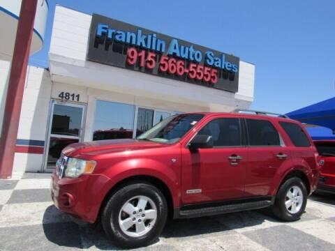 2008 Ford Escape for sale at Franklin Auto Sales in El Paso TX