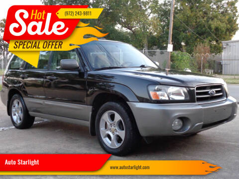2004 Subaru Forester for sale at Auto Starlight in Dallas TX