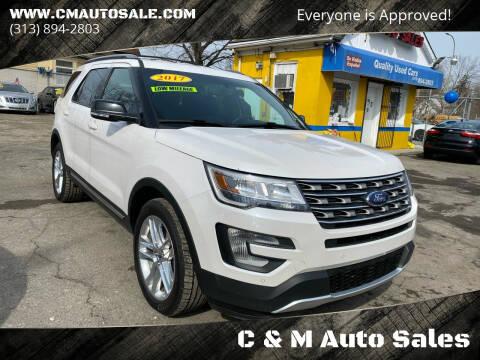 2017 Ford Explorer for sale at C & M Auto Sales in Detroit MI
