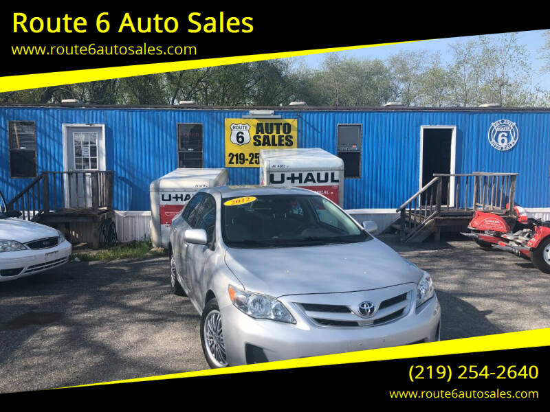 2012 Toyota Corolla for sale at Route 6 Auto Sales in Portage IN