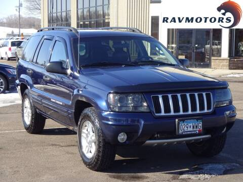 2004 Jeep Grand Cherokee for sale at RAVMOTORS 2 in Crystal MN
