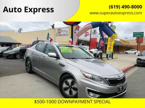 2013 Kia Optima Hybrid for sale at Auto Express in Chula Vista CA