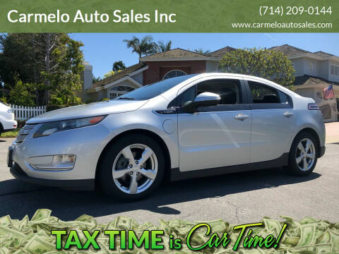 2012 Chevrolet Volt for sale at Carmelo Auto Sales Inc in Orange CA