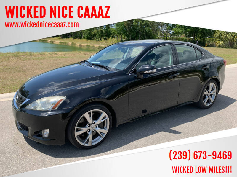 2009 Lexus IS 350 for sale at WICKED NICE CAAAZ in Cape Coral FL