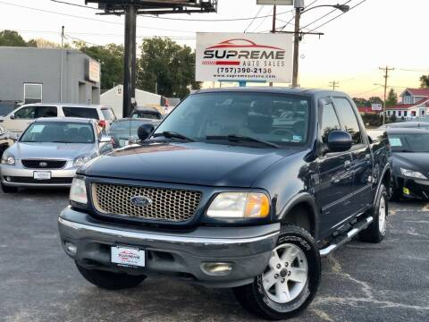 2003 Ford F-150 for sale at Supreme Auto Sales in Chesapeake VA