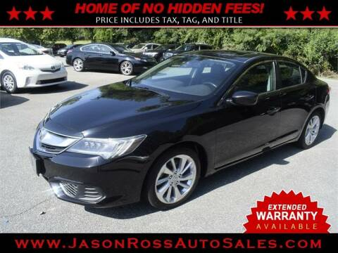 2016 Acura ILX for sale at Jason Ross Auto Sales in Burlington NC