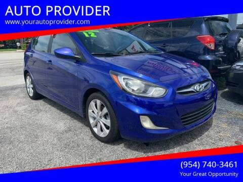 2012 Hyundai Accent for sale at AUTO PROVIDER in Fort Lauderdale FL
