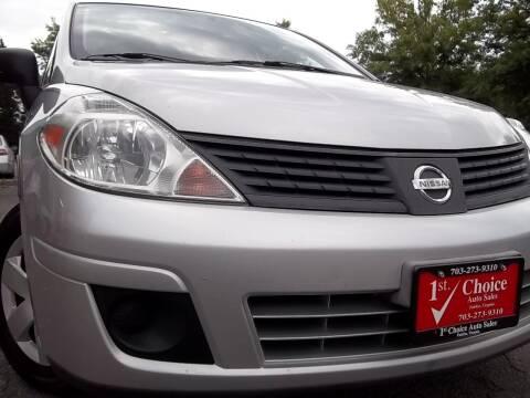 2010 Nissan Versa for sale at 1st Choice Auto Sales in Fairfax VA