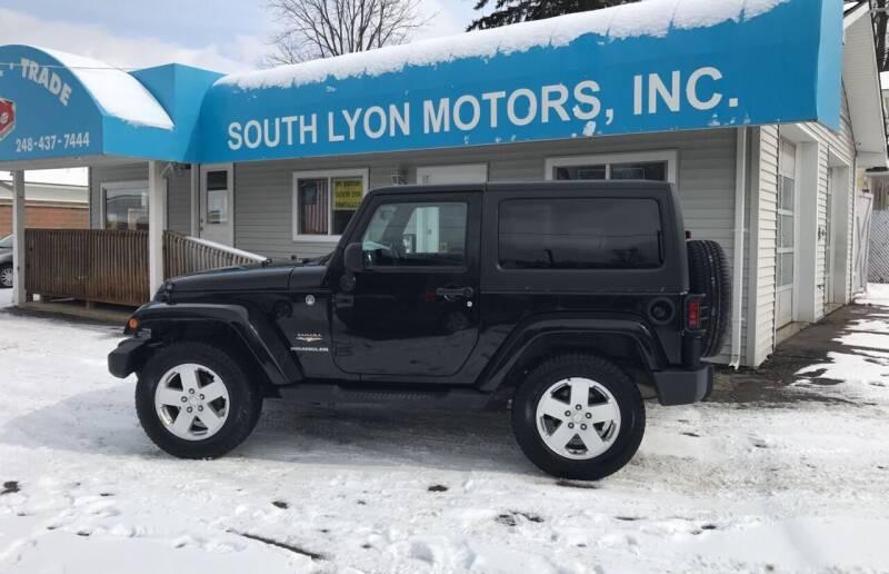 2011 Jeep Wrangler for sale at South Lyon Motors INC in South Lyon MI