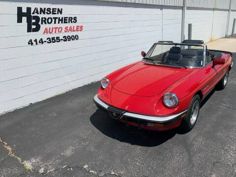 1989 Alfa Romeo Spider for sale at HANSEN BROTHERS AUTO SALES in Milwaukee WI