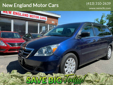 2007 Honda Odyssey for sale at New England Motor Cars in Springfield MA