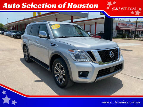 2019 Nissan Armada for sale at Auto Selection of Houston in Houston TX