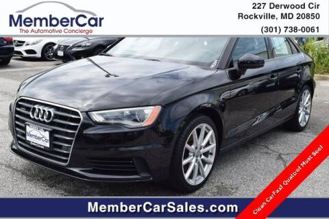 2016 Audi A3 for sale at MemberCar in Rockville MD