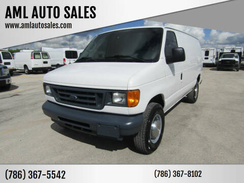 2006 Ford E-Series Cargo for sale at AML AUTO SALES - Cargo Vans in Opa-Locka FL