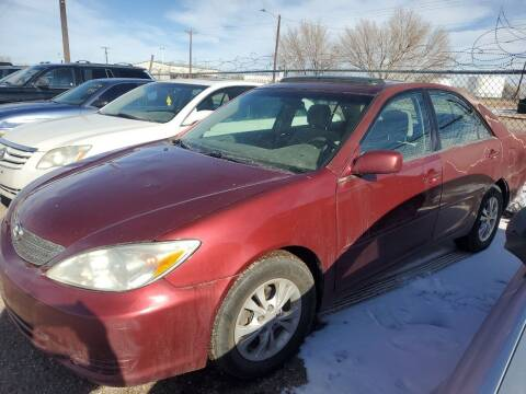 2004 Toyota Camry for sale at PYRAMID MOTORS - Fountain Lot in Fountain CO
