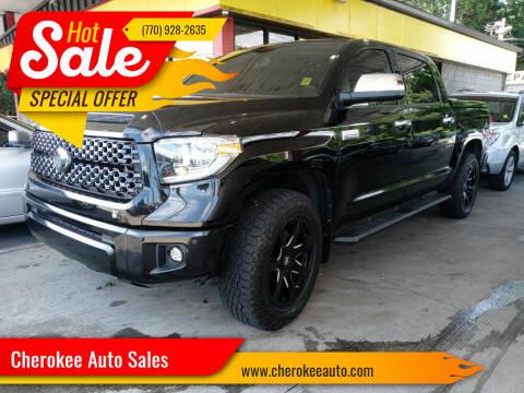 2018 Toyota Tundra for sale at Cherokee Auto Sales in Acworth GA
