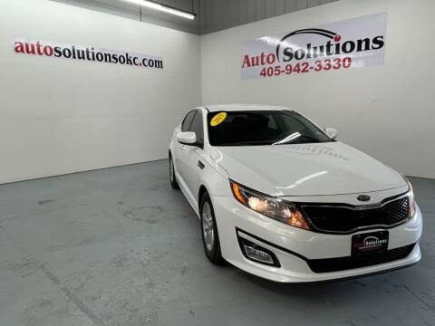 2015 Kia Optima for sale at Auto Solutions in Warr Acres OK