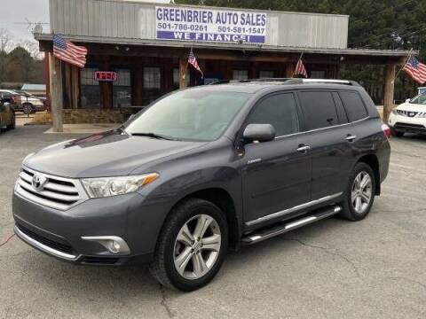 2012 Toyota Highlander for sale at Greenbrier Auto Sales in Greenbrier AR