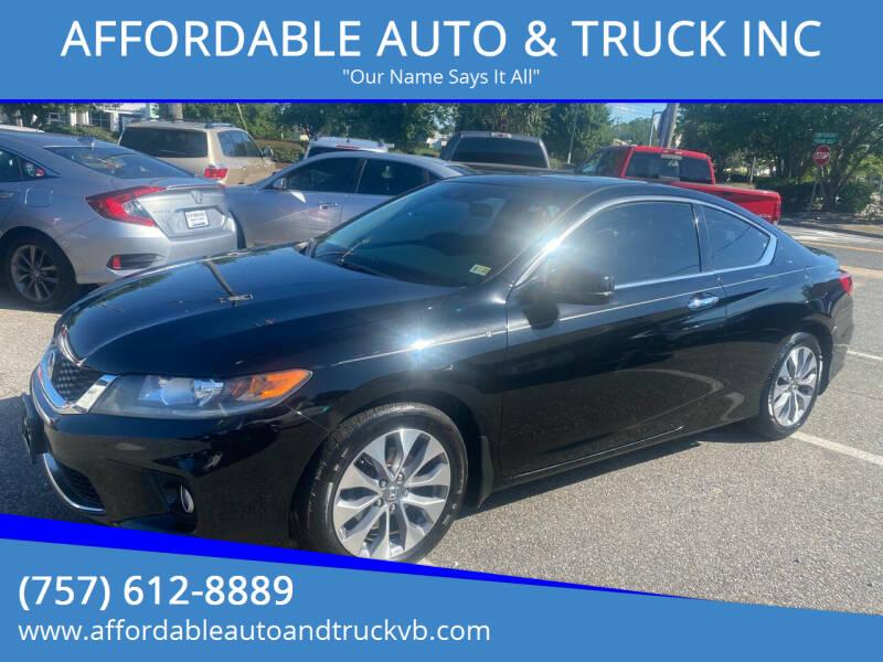 2014 Honda Accord for sale at AFFORDABLE AUTO & TRUCK INC in Virginia Beach VA