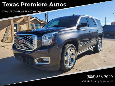 2016 GMC Yukon for sale at Texas Premiere Autos in Amarillo TX