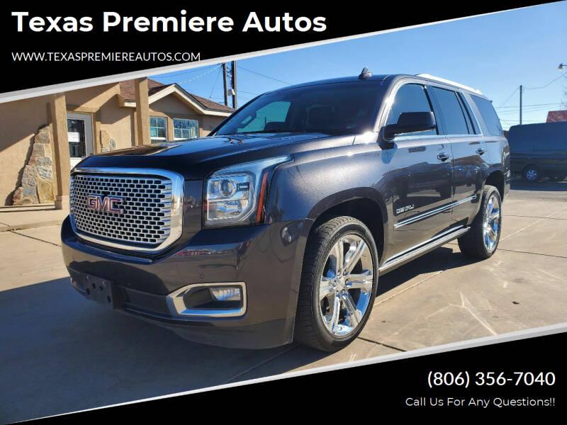 2016 GMC Yukon for sale at Texas Premiere Autos in Amarillo TX