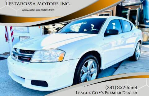 2012 Dodge Avenger for sale at Testarossa Motors Inc. in League City TX