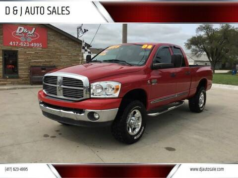 2008 Dodge Ram Pickup 2500 for sale at D & J AUTO SALES in Joplin MO