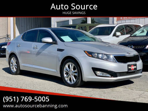 2013 Kia Optima for sale at Auto Source in Banning CA