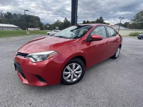 2014 Toyota Corolla for sale at Alexandria Auto Mart LLC in Alexandria PA
